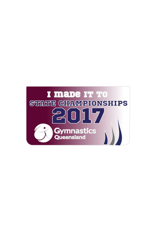 2017 QLD States Brag Sticker