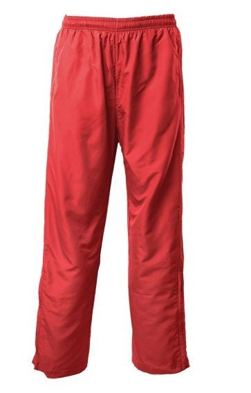 SALE - Red Pongee Silk Track Pants