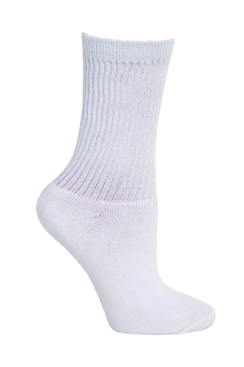 Plain White Crew Socks by GMD Activewear