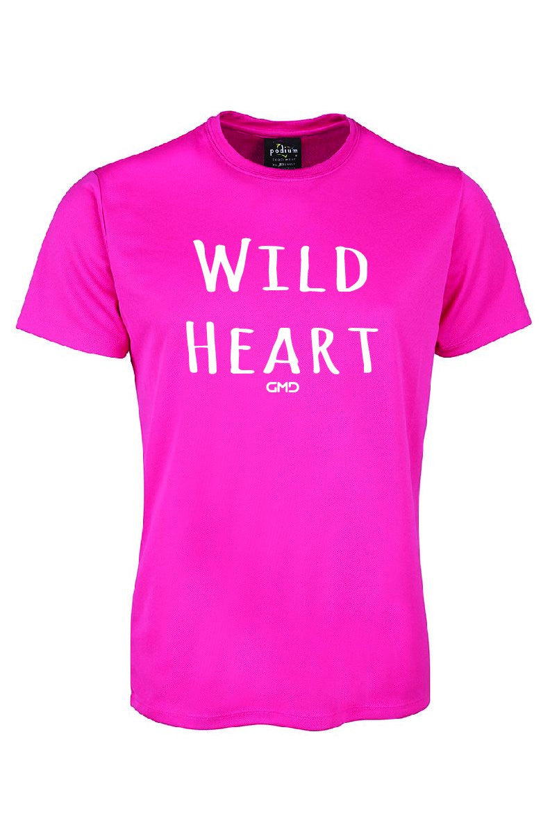 Wild heart Childrens Activewear Tee Shirt By GMD Activewear