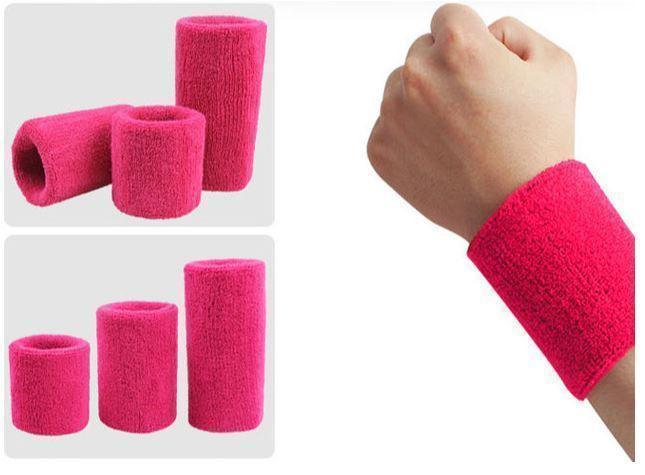 Towelling Wrist Bands Large- select colour