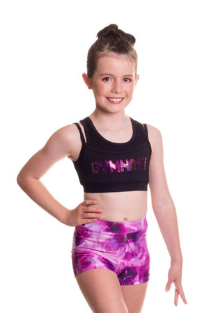 Pink Lily Sequin Gymnastics Crop by GMD Activewear Australia
