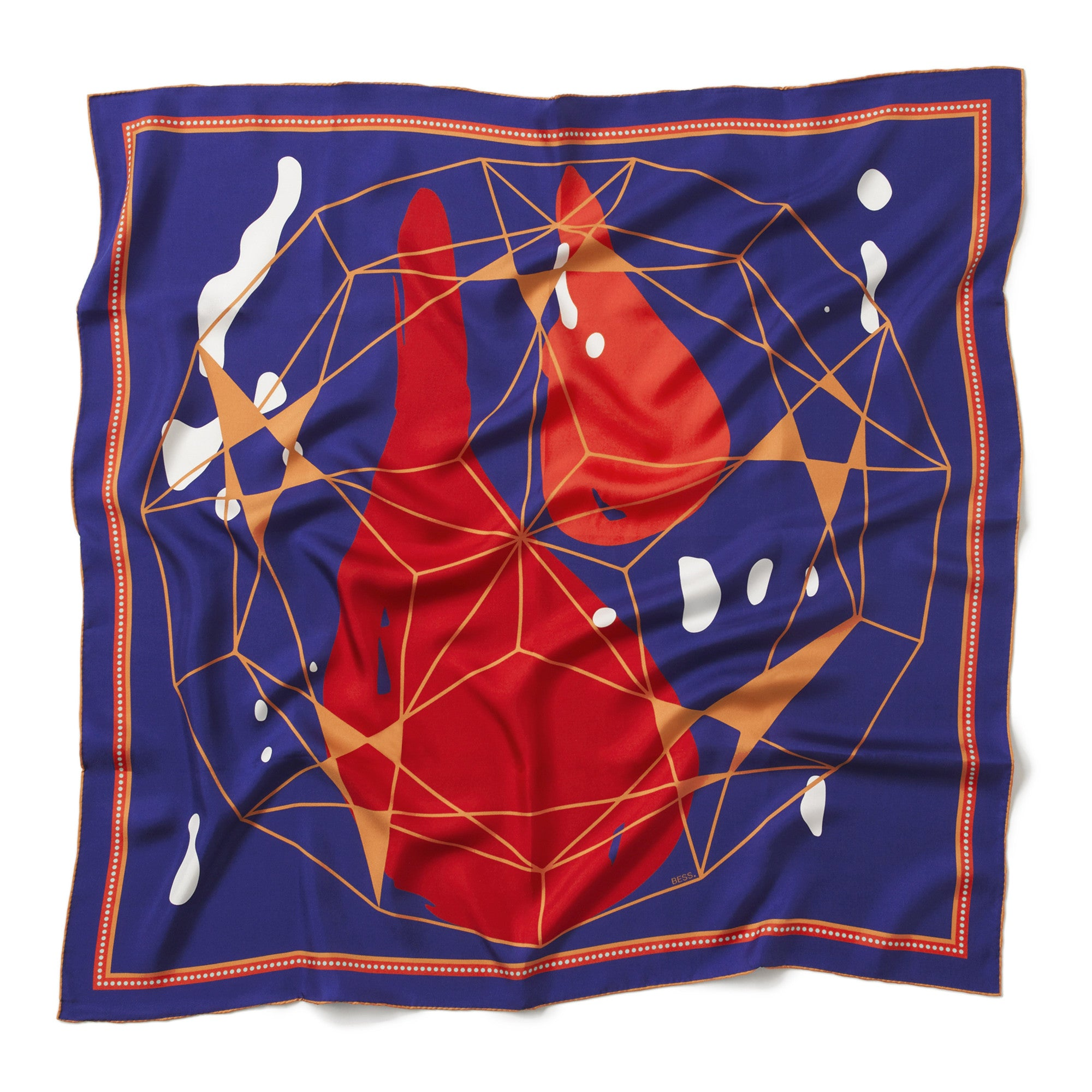 BESS Acid Rain silk scarf New Zealand