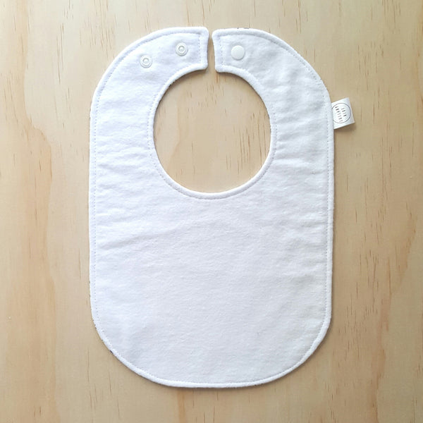 Graffiti White Baby Bib - Lullaby Riot