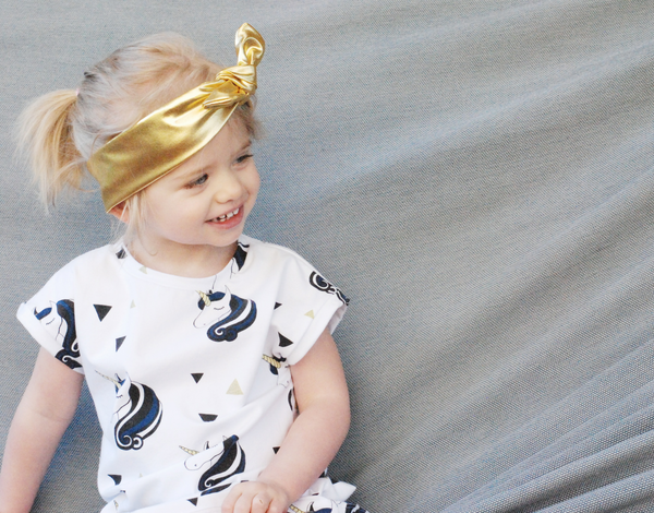Metallic Gold Bow Headband - Lullaby Riot