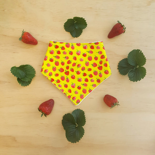 Strawberries Bandana Bib - Lullaby Riot