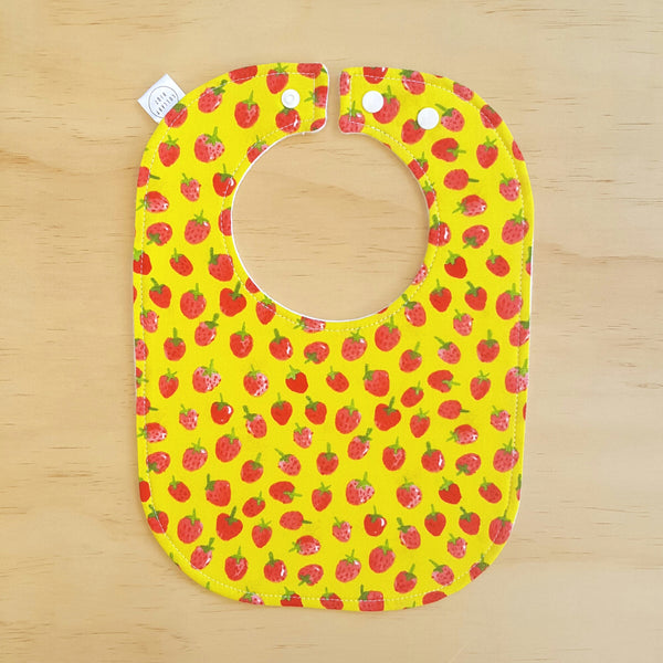 Strawberries Baby Bib - Lullaby Riot