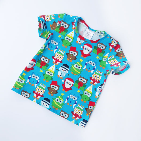 Christmas Owls T-Shirt - Size 1 only - Lullaby Riot