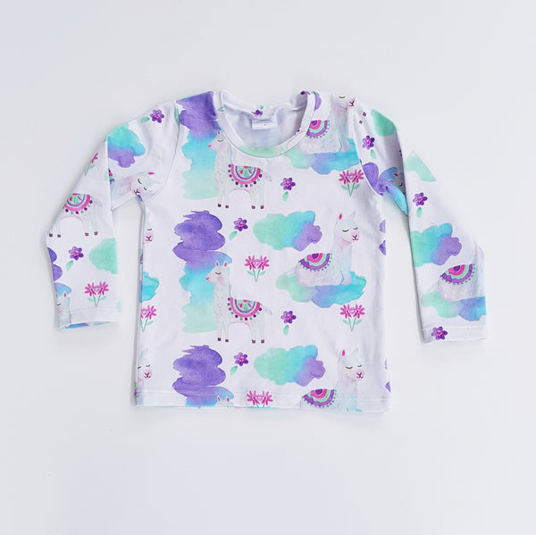 Llama Long Sleeve T-Shirt - Size 0 only - Lullaby Riot