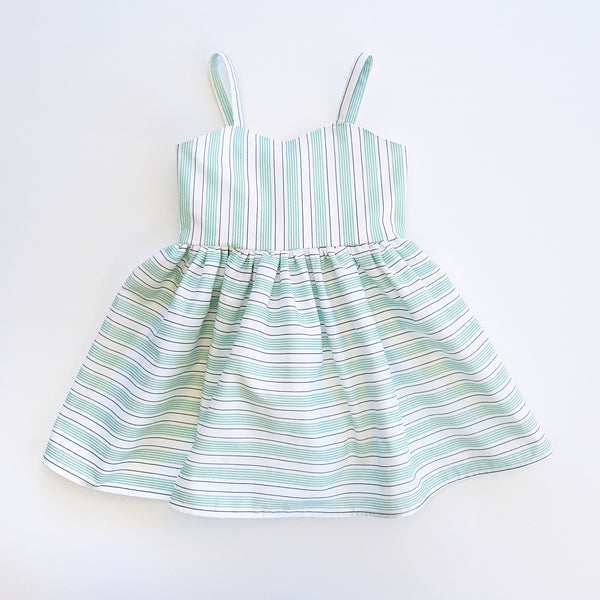 Malibu Teal Stripe Dress ONLY SIZE 3 LEFT - Lullaby Riot
