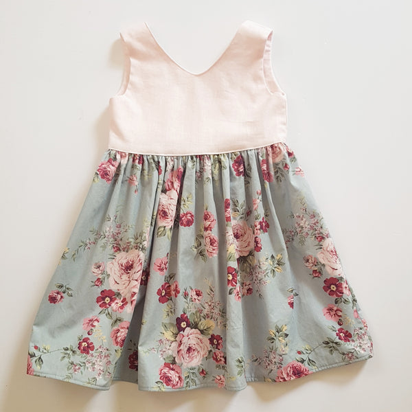 Pink and Floral Dress - Size 4 only - Lullaby Riot
