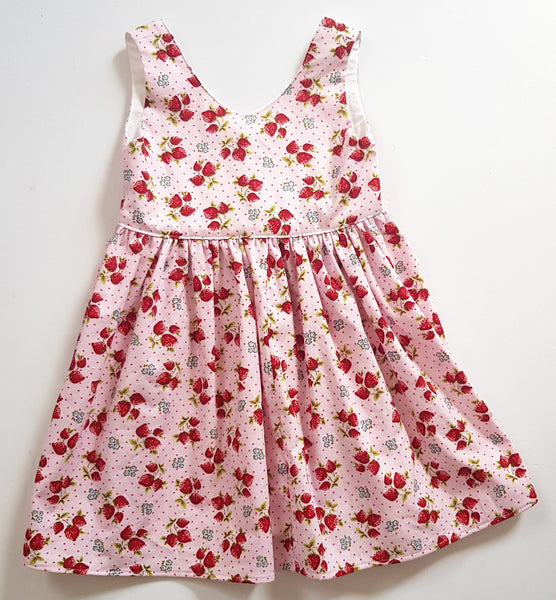 Pink Strawberry Dress - Size 3 only - Lullaby Riot