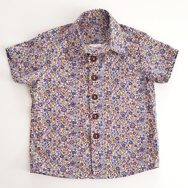 Navy Floral Shirt - Lullaby Riot