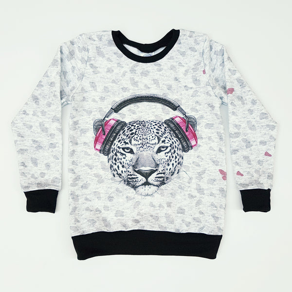 Pink Leopard Jumper - Size 4 only - Lullaby Riot