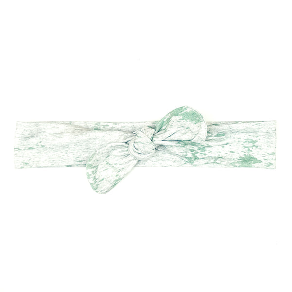 Green and Mottled Grey Bow Headband - Lullaby Riot