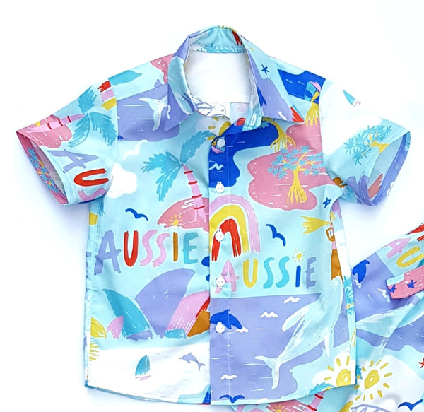 Aussie Shirt - All Sizes Made to Order - Lullaby Riot