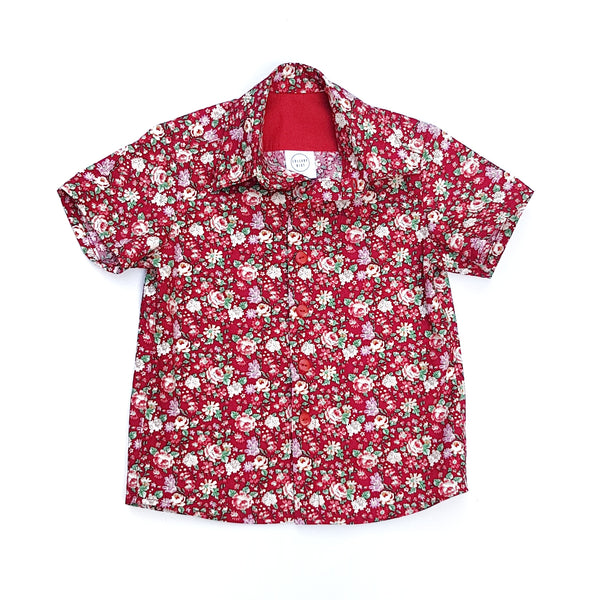 Red Christmas Floral Shirt - Lullaby Riot