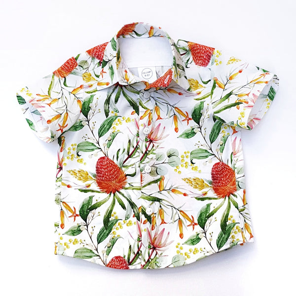 Banksia Christmas Floral Shirt - Lullaby Riot