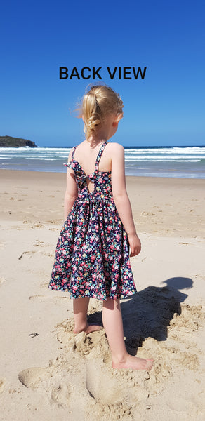 Amelie Banksia Christmas Floral Dress - Lullaby Riot