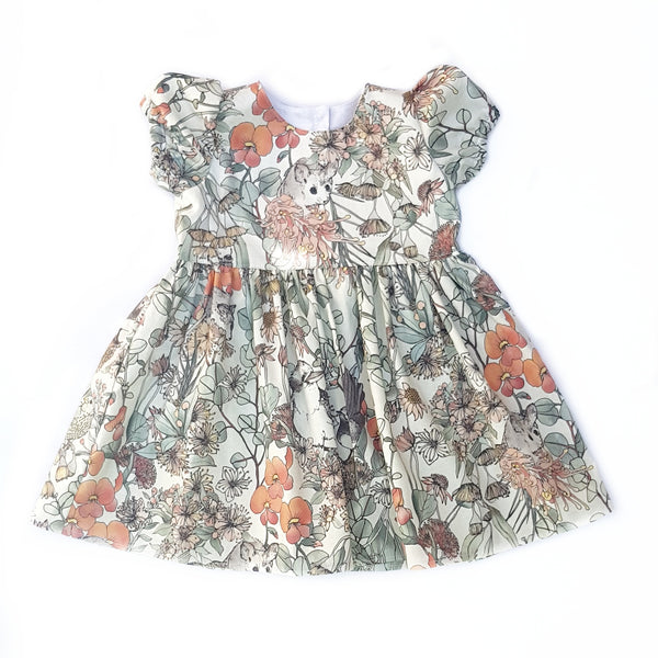 Native Animals Dress - size 7 only - Lullaby Riot