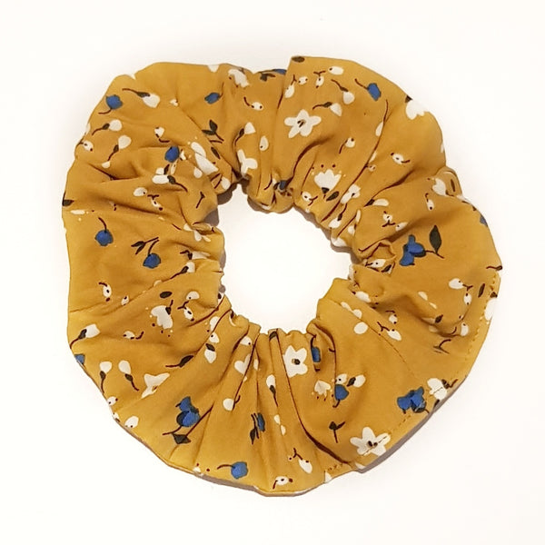 Mustard Floral Scrunchie - Lullaby Riot