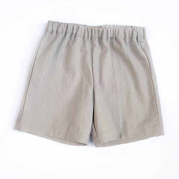 Shorts - Light Grey Linen - sizes 2, 3 and 5 only - Lullaby Riot