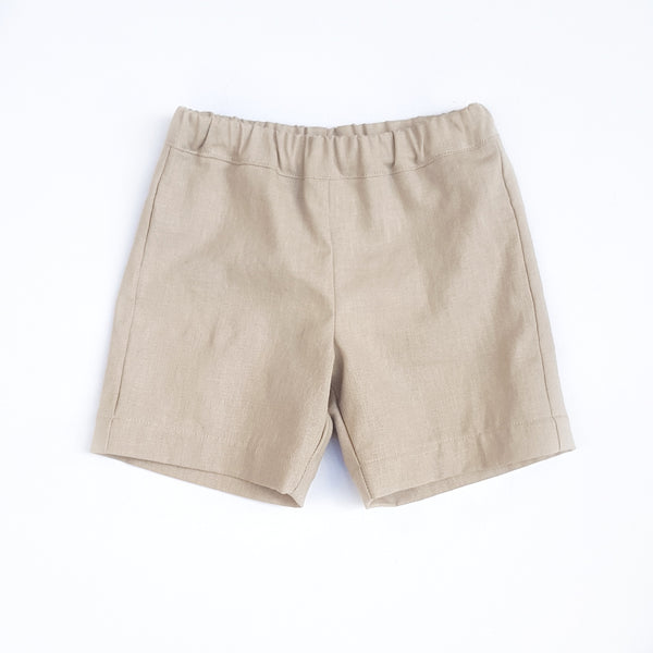 Shorts - Natural Linen - sizes 1 and 2 only - Lullaby Riot