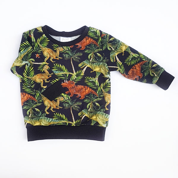 Dinosaur Jumper - size 00 only - Lullaby Riot