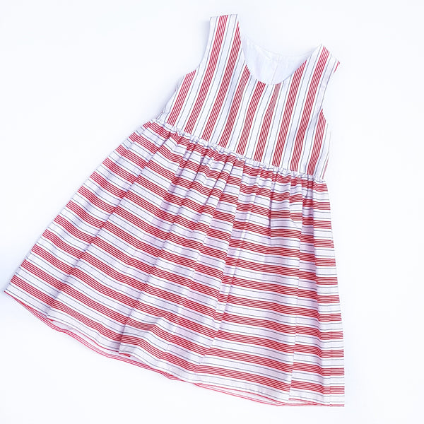 Red Stripe Dress - size 2 and 4 only - Lullaby Riot