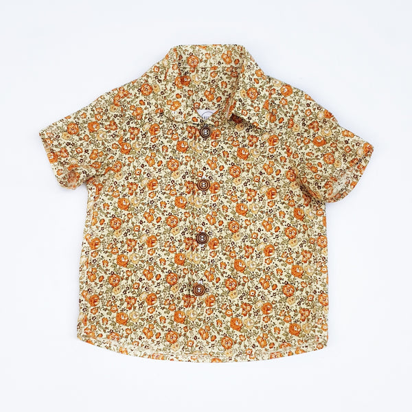 Retro Floral Shirt - Sizes 0, 1, 2 and 3 only - Lullaby Riot