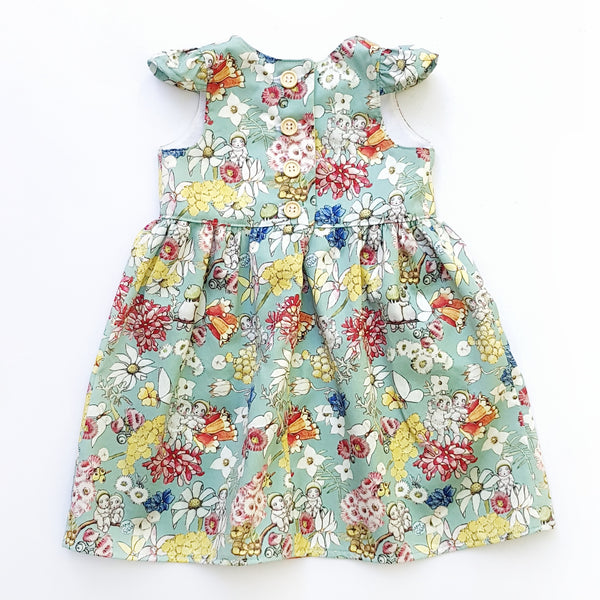 May Gibbs Gumnut Friends Cap Sleeve Dress - size 0 only - Lullaby Riot