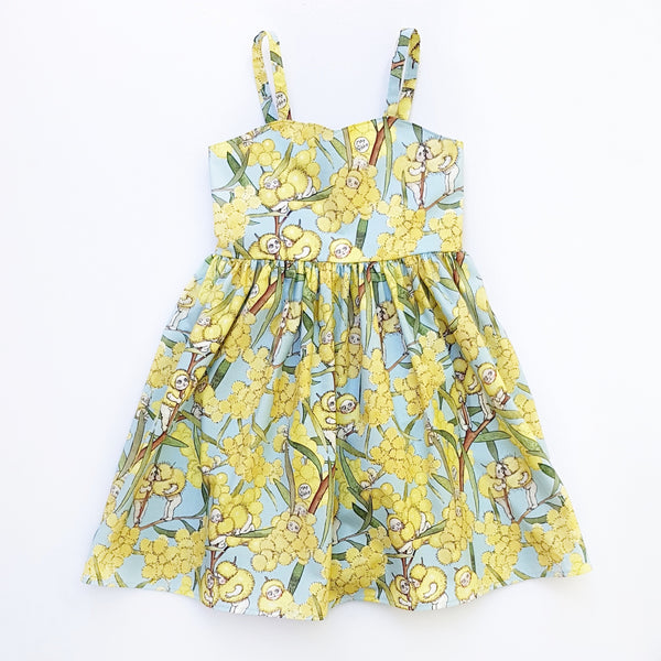 May Gibbs Blossom Babies Dress - Size 6 only - Lullaby Riot