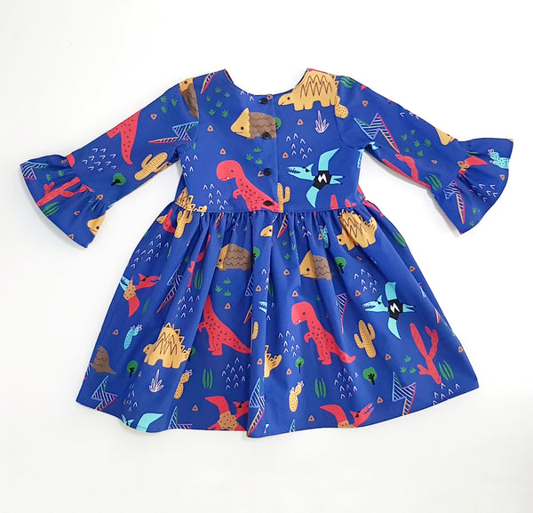 Dino Fun Zeta Dress - MADE TO ORDER