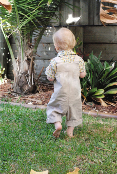 Natural Linen Overalls - Lullaby Riot