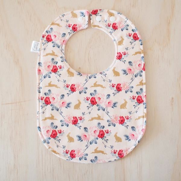 Rose and Rabbit Baby Bib - Lullaby Riot