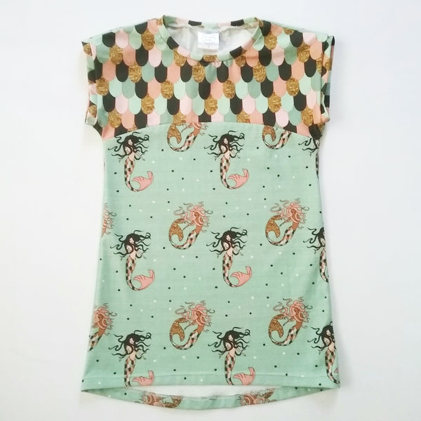 Mermaid T-Shirt Dress - Sizes 3, 4 and 5 - Lullaby Riot