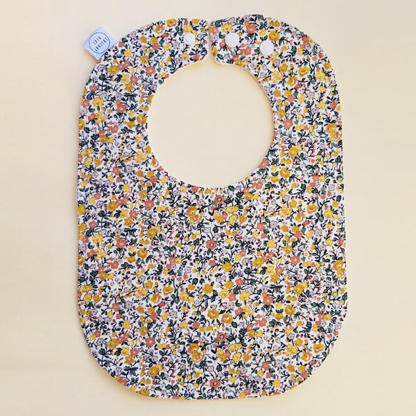 Winter Vintage Floral Baby Bib - Lullaby Riot