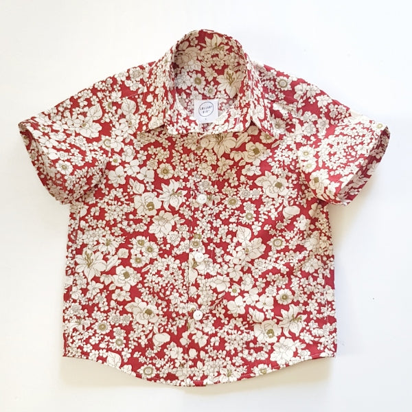 Red Floral Shirt - Lullaby Riot