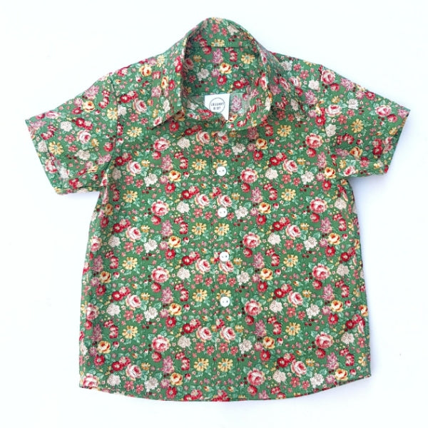 Green Floral Shirt - Size 8 only - Lullaby Riot