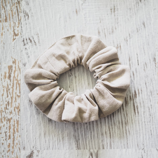 Natural Linen Scrunchie - Lullaby Riot