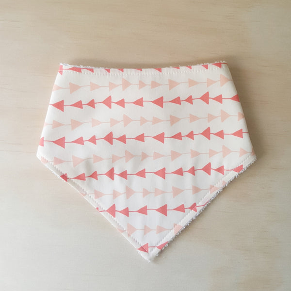 Peach Triangles Bandana Bib - Lullaby Riot