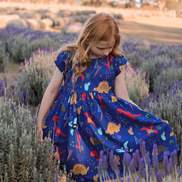 Dino Fun Ava Dress - MADE TO ORDER