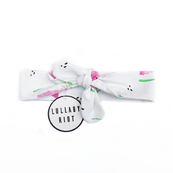Watermelon Bow Headband - Lullaby Riot