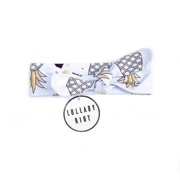 Pineapple Bow Headband - Lullaby Riot