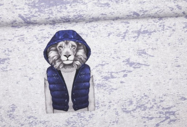Blue Lion Jumper - Size 2 only - Lullaby Riot