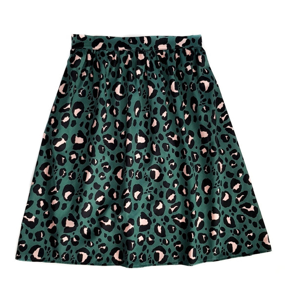 Ladies Skirt - Dark Leopard