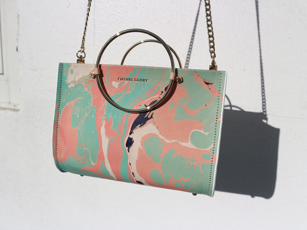 FG MARBLED MINI IN PASTEL WITH STRAP