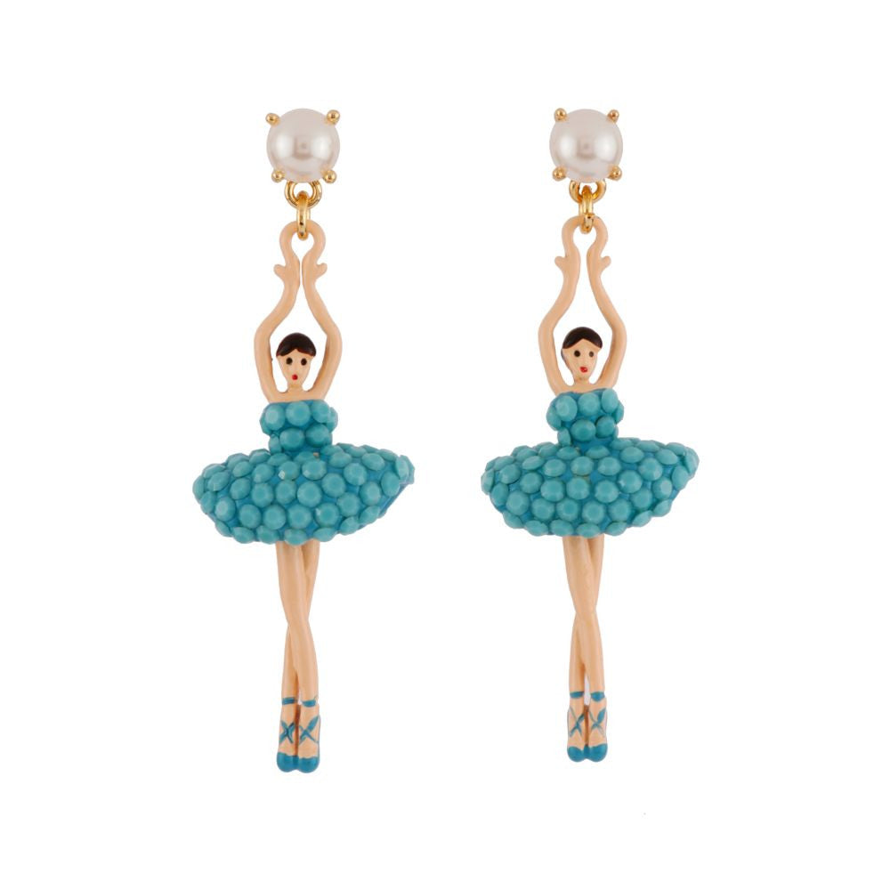 Les Nereides Pas De Deux Blue Earrings