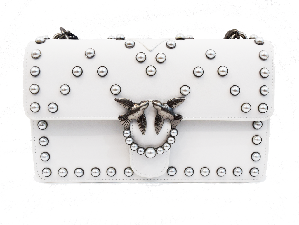 Pinko Love Bag with bijou pearls