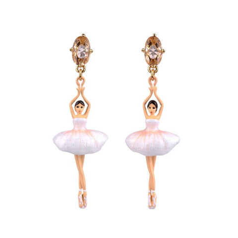 Les Nereides White Ballerinas On Points Earring